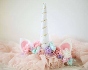 Unicorn Cake smash headband