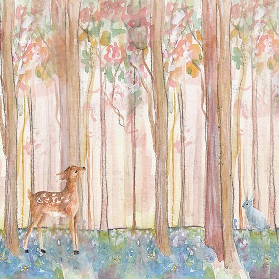 deer fawn wood backdrop