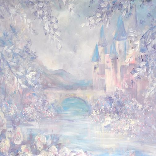 princess hand painted fairytale backdrop