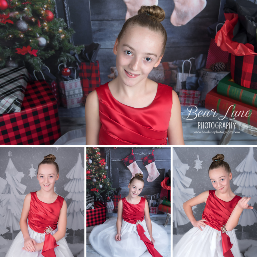 Holiday Mini Session 2016 traditional older girl in red