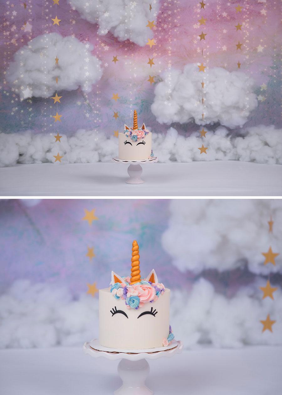 rainbow unicorn cake smash