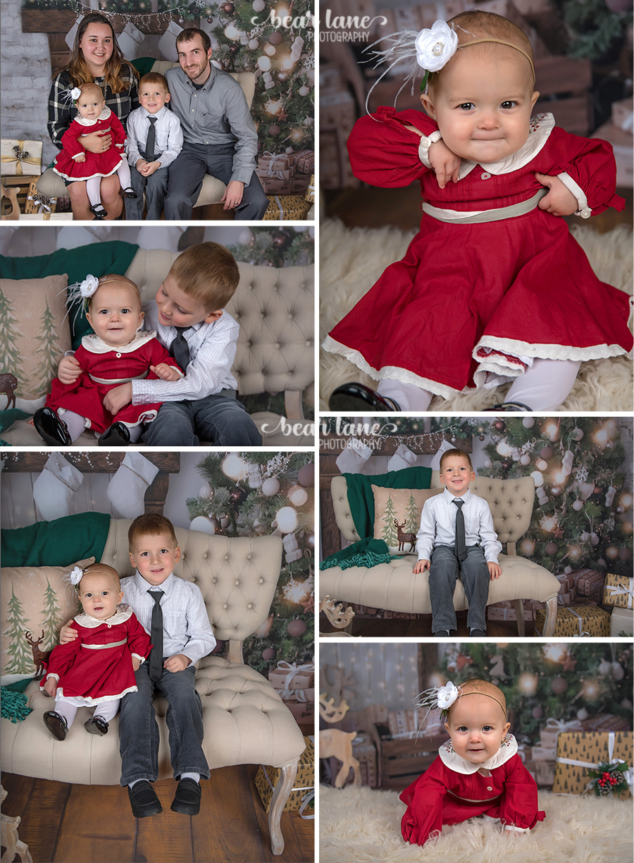 Christmas Mini Session 2017 Family girl in red christmas preorder well dressed wolf