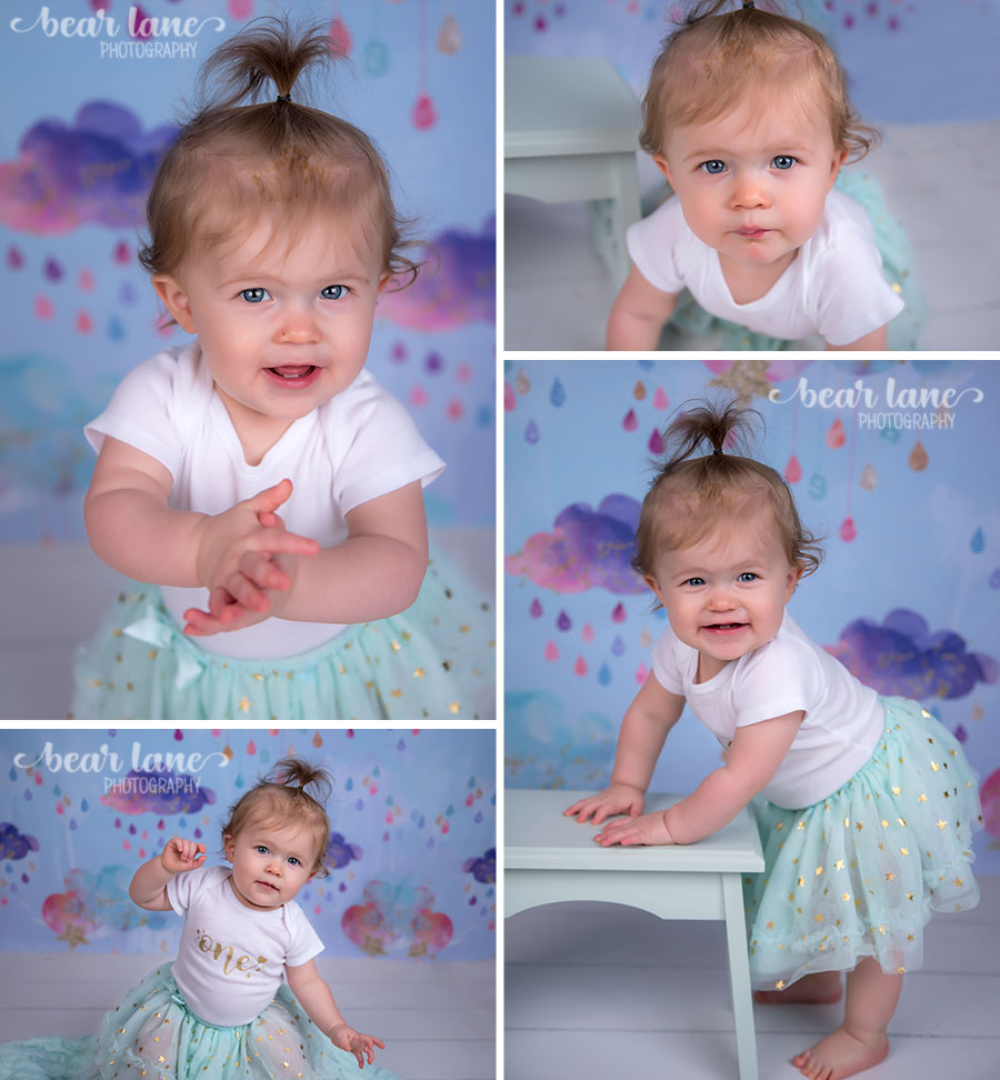 baby girl rainbow rain cloud unicorn first birthday portraits_2