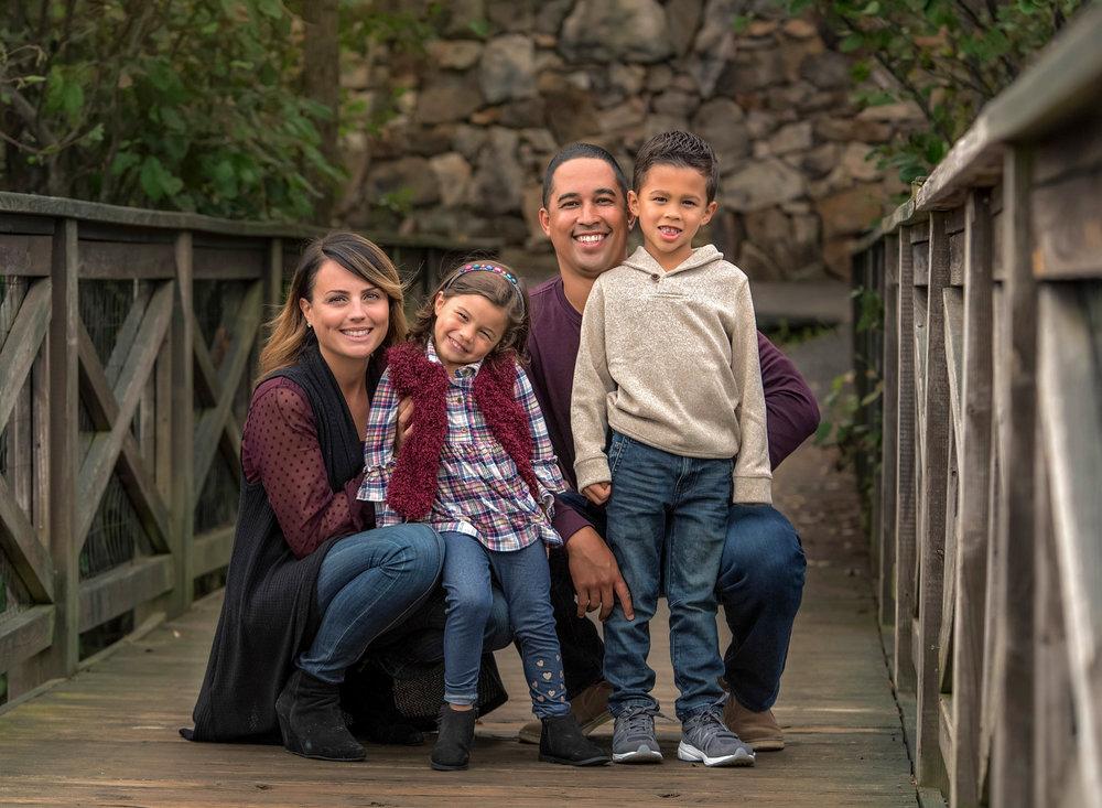 Family Portrait midlothian mines bridge fall