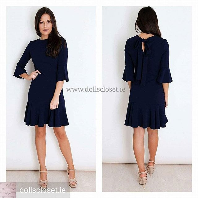 Only size 8 & 12 remaining of our gorgeous Madison dress 💕💕 . . #dollscloset #madisondress #navy #frill #sleeves #mini #dress #onlineshopping #onlineboutique #galway #ireland #style #blogger #fashionblogger #styleinspo #fashionlover #instadaily #fashioninspo #fashion #instashop #instadaily #ootd #ootn #occasionwear