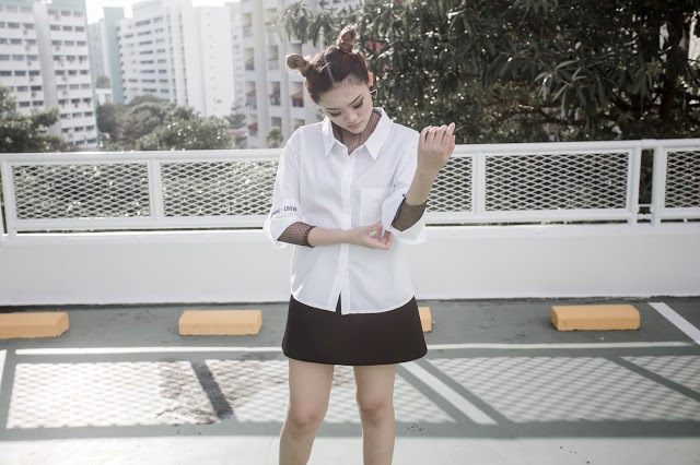Effortlessly chic.  On model: Fake 2-Piece Stylo Blouse