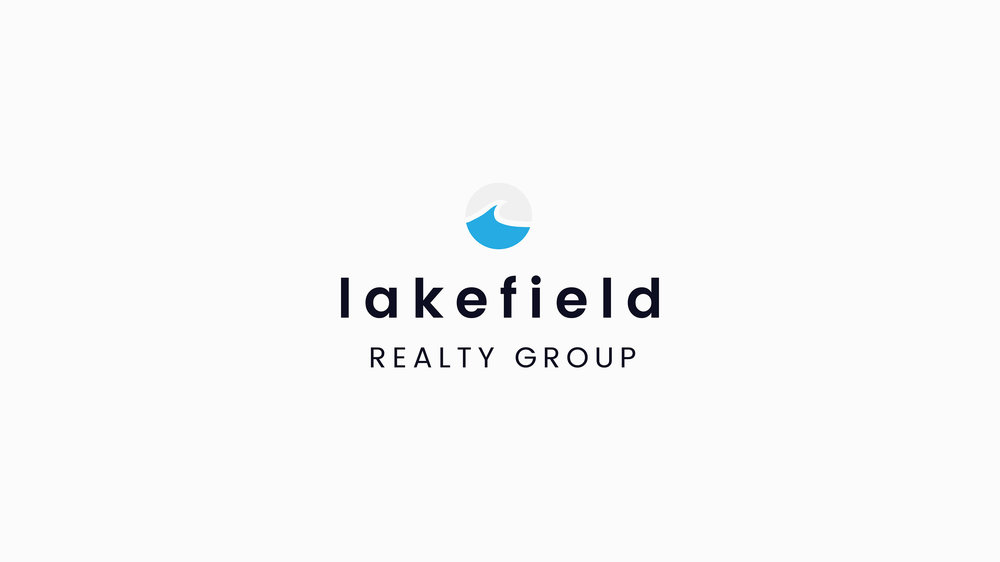 Combination mark for Lakefield Realty designed to speak to clients seeking luxury, lakefront real estate.