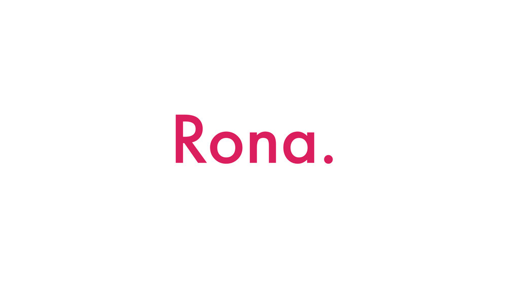 Logotype for journalist, Rona Gindin.