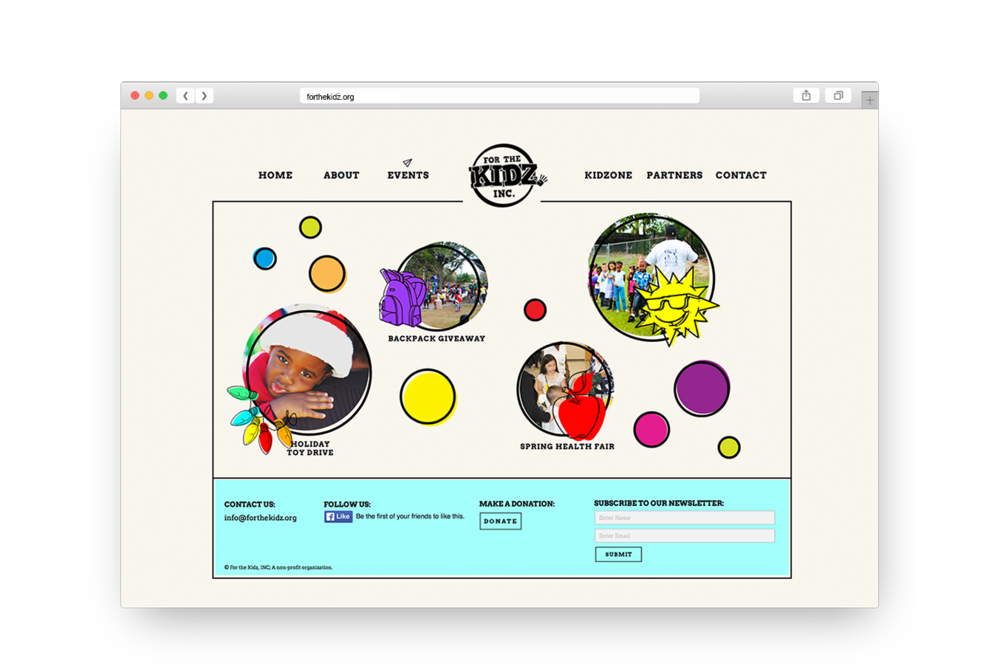 Website developed and designed by my GRAPH III students at Sanford-Brown College.