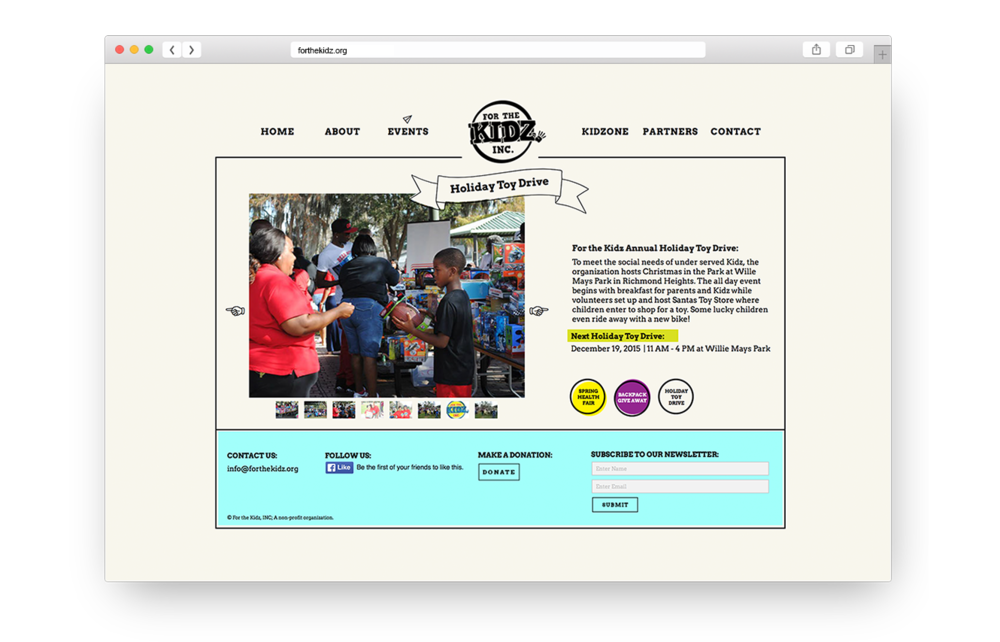 Website designed by my graphic design students at Sanford-Brown College Orlando in 2015.