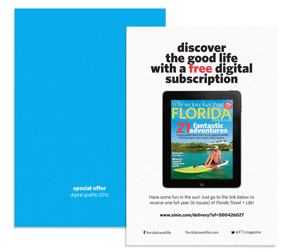 Florida Travel + Life Promo Card, 4x6