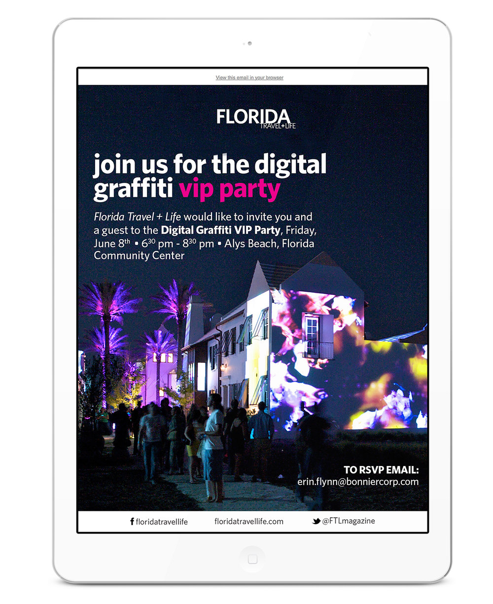 Designed to promote their presence at 30A's Digital Graffit event.