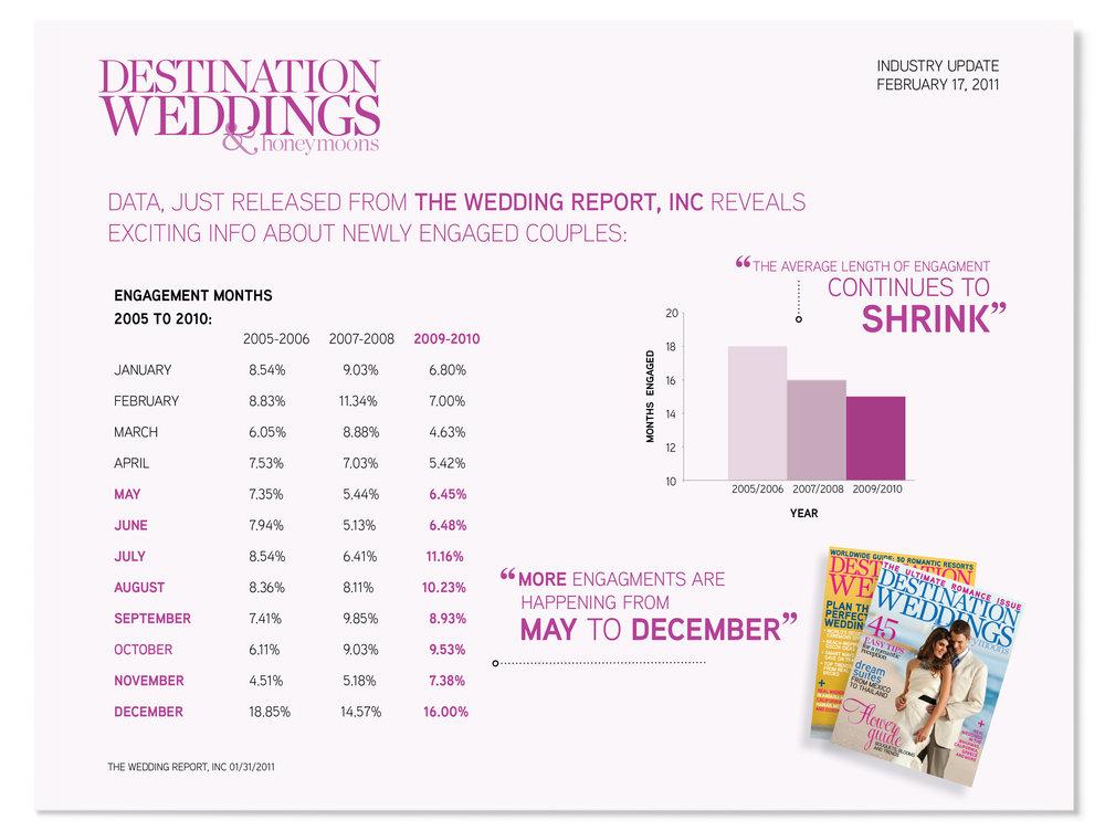 Promotional Sales Sheet for Destination Weddings & Honeymoons