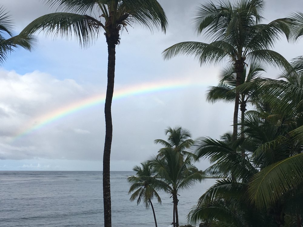 Beautiful rainbow seen from our covered porch in Las Galeras.