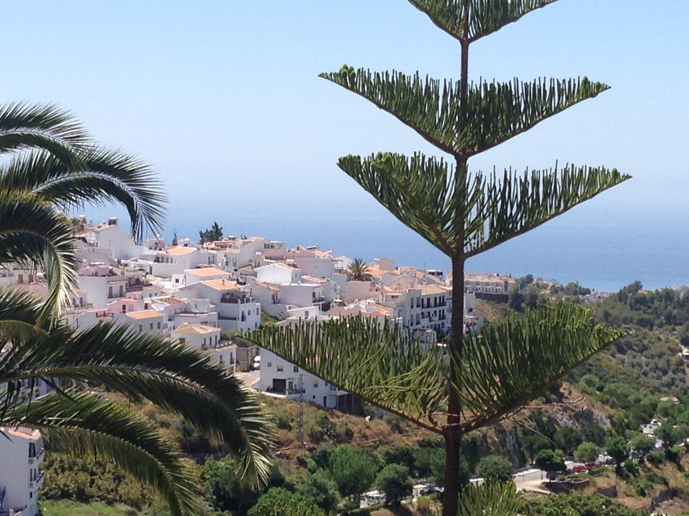The view we enjoyed while walking to a favorite restaurant in the beautiful white village of Fragiliana, Spain.