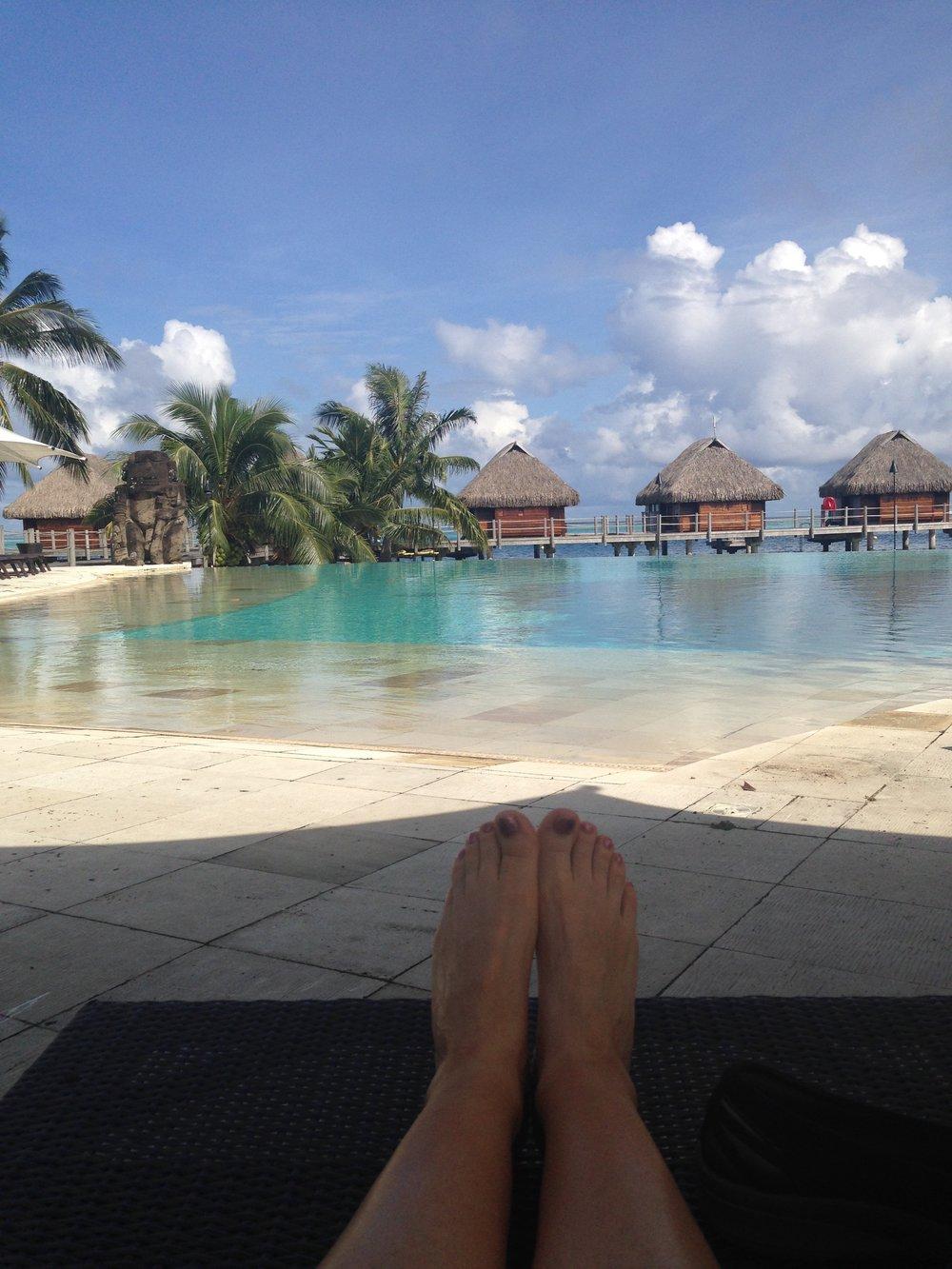Obligatory toe shot. Mo'orea, French Polynesia