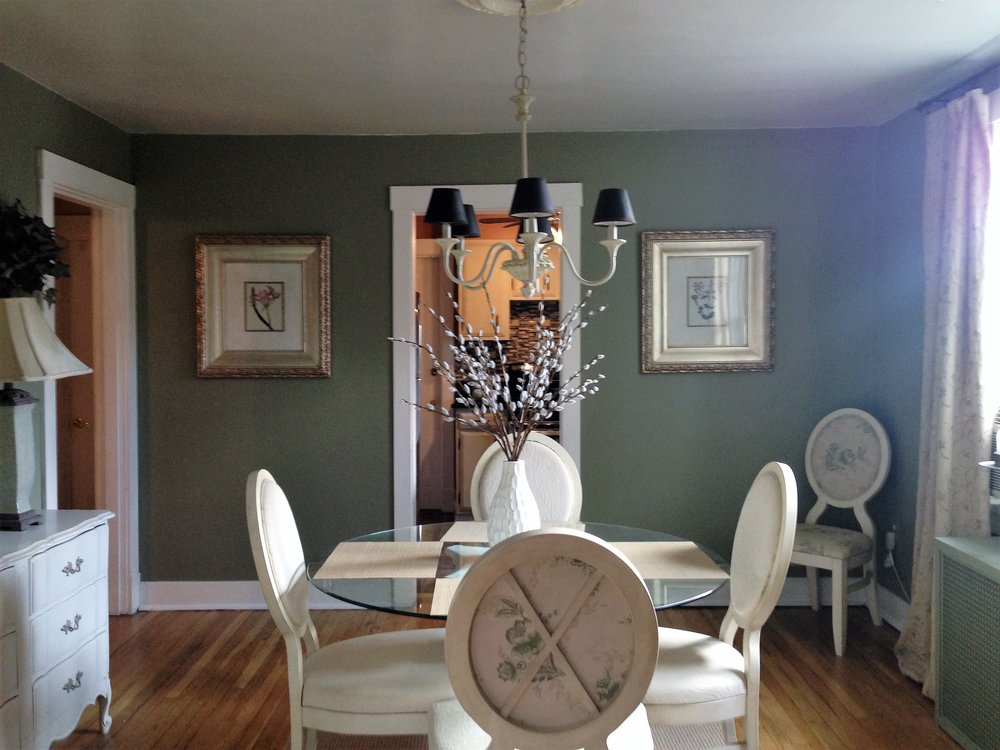 The dining room in the same Pittsburgh apartment.