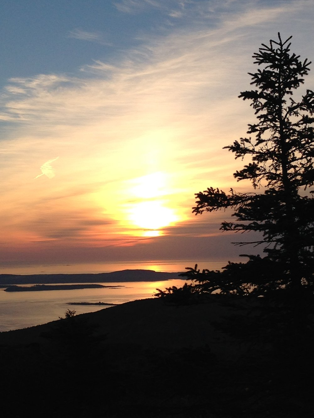 Sunrise on Cadillac mountain Acadia National Park