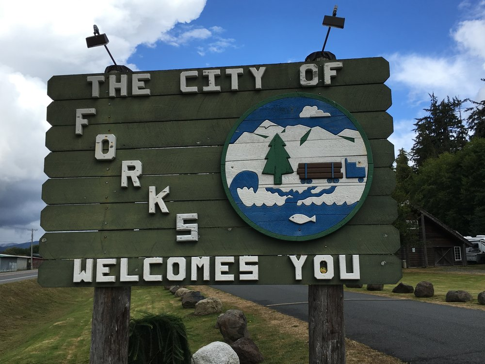 I know I don't even have to ask you what books and movies are set in the city of Forks, Washington!