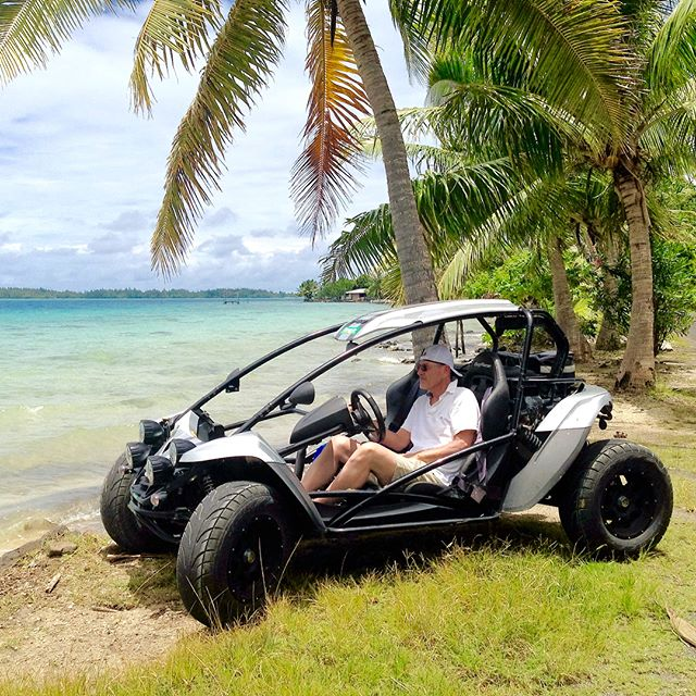 That time we rented a dune buggy and drove all over Bora Bora a couple of years ago with the sun on our faces and the wind in our hair! We ate at Bloody Mary's and found beautiful beaches. Ahhh! Life is good in the South Pacific! Have you been? . . . . .  #lovetotravel  #travelgram #travelingcouple #traveltheworld #wanderlust #traveladdict #letslivethere #weloveithere  #boomertravelers  #babyboomertravel #boomertravel  #travelat60 #over60travel #explore #seniortravel #kewlcaptures #borabora #southpacific #frenchpolynesia #takemebackthere