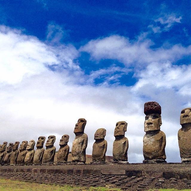 That time we went to Easter Island a couple of years ago. It was thrilling to walk among the giant moai created by the inhabitants of Rapa Nui during the 13th - 16th centuries. This was a giant ✅ on our bucket list. What's your biggest bucket list ✅ so far? . . . . .  #lovetotravel  #travelgram #travelingcouple #traveltheworld #wanderlust #traveladdict #letslivethere #weloveithere  #boomertravelers  #babyboomertravel #boomertravel  #travelat60 #over60travel #explore #seniortravel #kewlcaptures #easterisland #rapanui #moai #bucketlist✔️ #polynesia