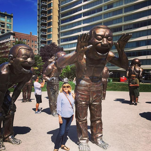 Hanging out in lovely Vancouver for a couple of days last August before heading out on a cruise. We hope to return and see and do more there! Have you been to Vancouver? What are your favorite things about it? Did you love these statues? . . . . .  #travel #lovetotravel  #travelgram #traveling #travelingcouple #travelblog  #traveltheworld #wanderlust #traveladdict #letslivethere #weloveithere  #instagood  #photooftheday  #boomertravelers  #babyboomertravel #boomertravel #travelwithme #worldexplorer #travelat60 #over60travel #explore #iamtb #travelover60 #seeingtheworld #kewlcaptures #seniortravel #canadaisawesome #vancouver #amazinglaughterstatues
