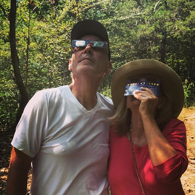 If you viewed the total eclipse in the forest but didn't post it to instagram, did it really happen??? . . . . .  #travel #lovetotravel  #travelgram #traveling #travelingcouple #travelblog  #traveltheworld #wanderlust #traveladdict #letslivethere #weloveithere  #instagood  #photooftheday  #boomertravelers  #babyboomertravel #boomertravel #travelwithme #worldexplorer #travelat60 #over60travel #explore #iamtb #travelover60 #seeingtheworld #kewlcaptures #seniortravel #totality2017 #totaleclipseofthesun #carbondaleillinois