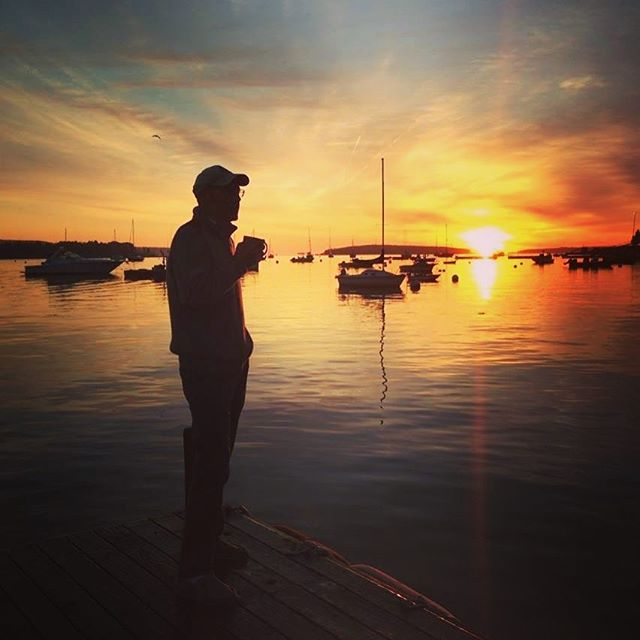 Nothing better than watching a beautiful sunrise on a crisp autumn morning with a steaming cup of coffee! Bar Harbor, Maine a couple of years ago. Maine is one of our favorite states and autumn is our favorite season. Great combo! Who else has been leaf peeping in New England? . . . . .  #travel #lovetotravel  #travelgram #traveling #travelingcouple #travelblog  #traveltheworld #wanderlust #traveladdict #letslivethere #weloveithere  #instagood  #photooftheday  #boomertravelers  #babyboomertravel #boomertravel #travelwithme #worldexplorer #travelat60 #over60travel #explore  #travelover60 #seeingtheworld #kewlcaptures #seniortravel #barharbormaine #autumn #leafpeepingseason
