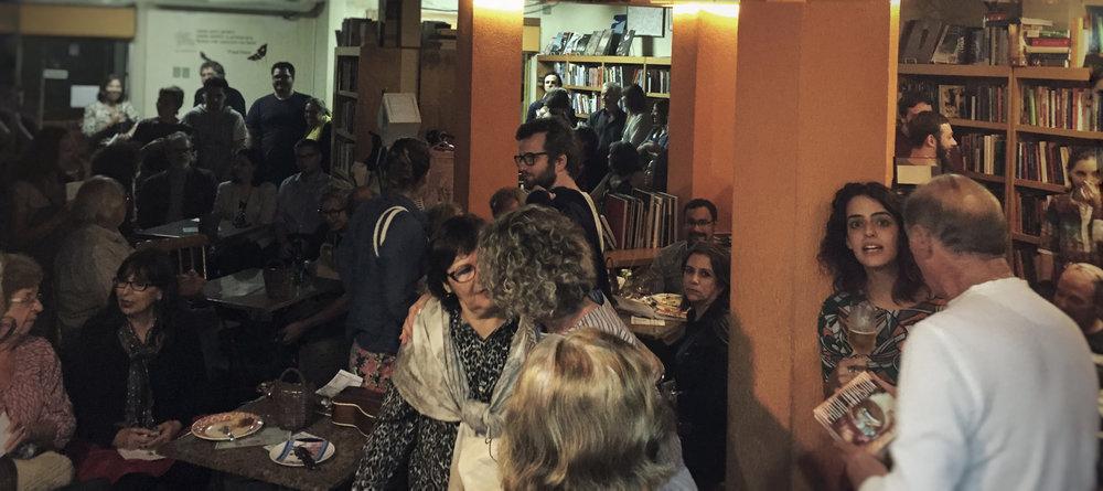 Book signing at Palavraria, Porto Alegre, Brazil.