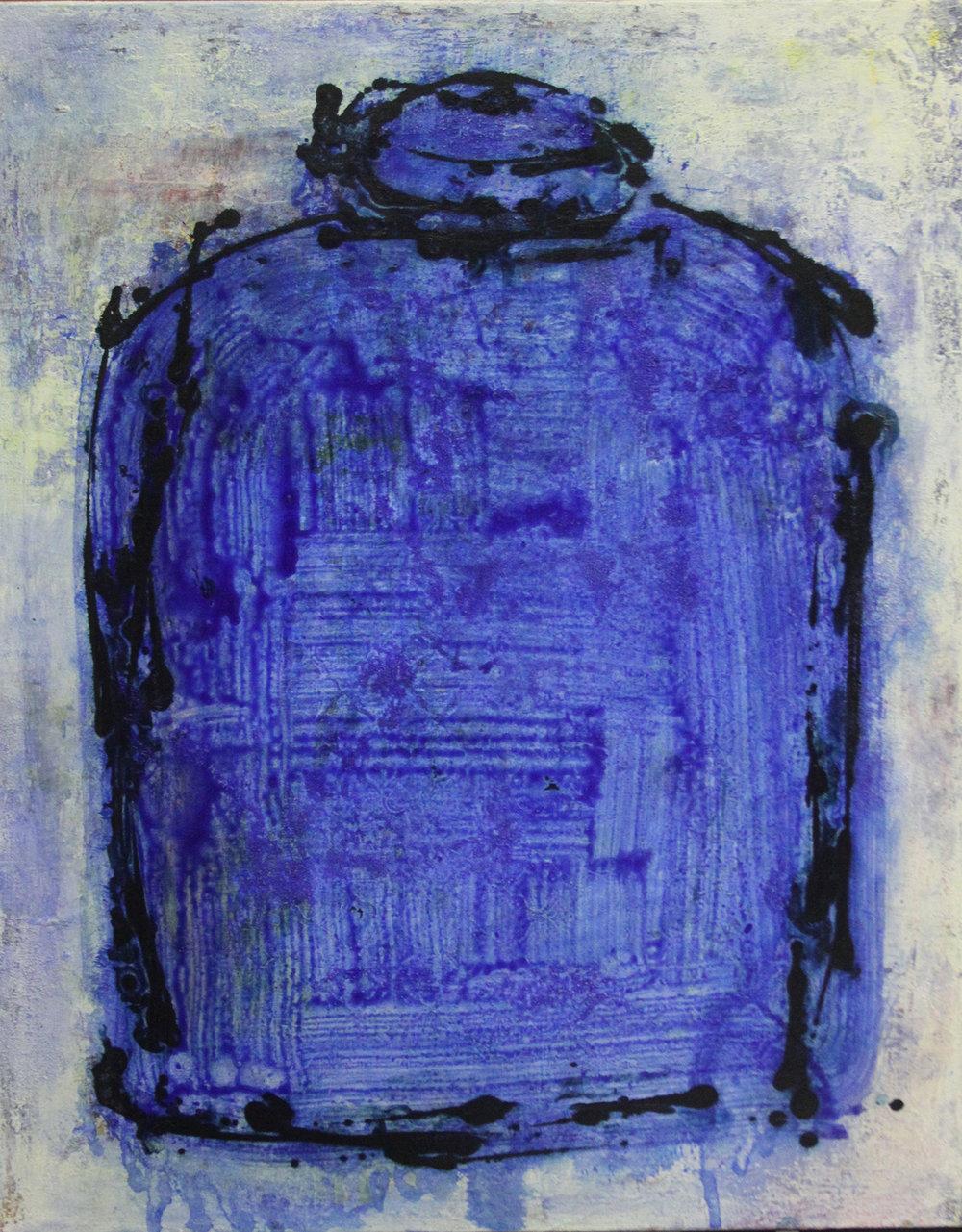 Blue Memory Jar
