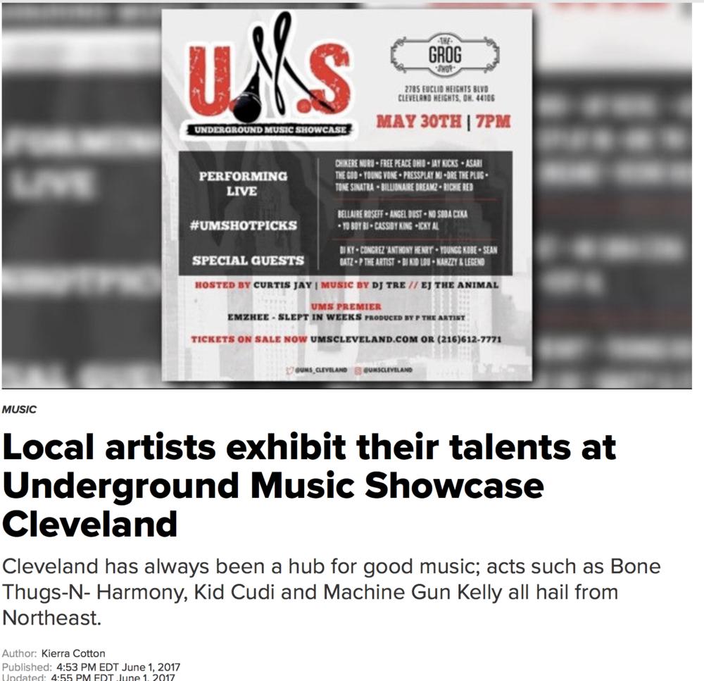 Local Artist Exhibit Talent at UMS Cleveland - Author: Kierra Cotton