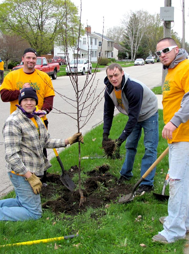 - 2017 Spring Tree Planting with RNeighbors Rochester. Thank You MNTC Rochester men for helping give back to our communtiy and making it a better place for our children and families.