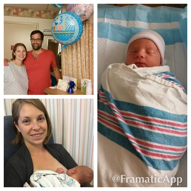 Mom, Dad, and Ryan, from Baby Ryan's birth story (testimonial)