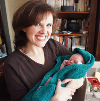 Lisa serves as a doula at a homebirth