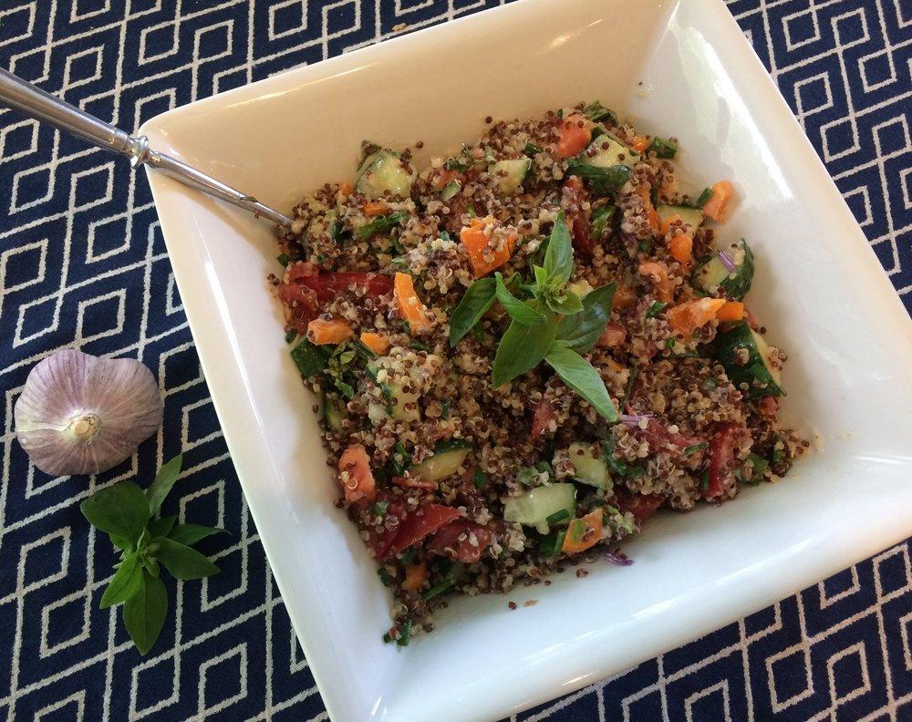 Tahini-Lemon-Quinoa-Salad