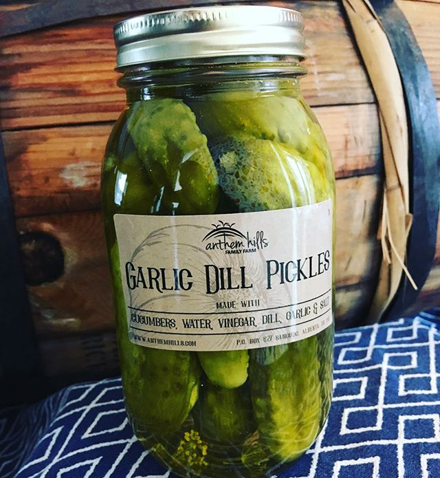 We have delicious preserved goods grown in our orchard and fields for sale just in time for the holidays. I had so much fun collaborating with @hawkdsgn on these labels! Canned with a whole lotta ❤️. Let us know if you'd like to purchase some! #pickledhotpeppers #garlicdillpickles #plumjam #nakedapplebutter #pickledbeans #hotpickledbeans #organicallygrowngoodness