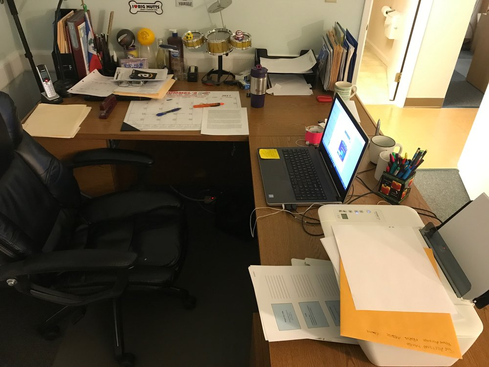 my desk at 10:03 on June 26, 2017