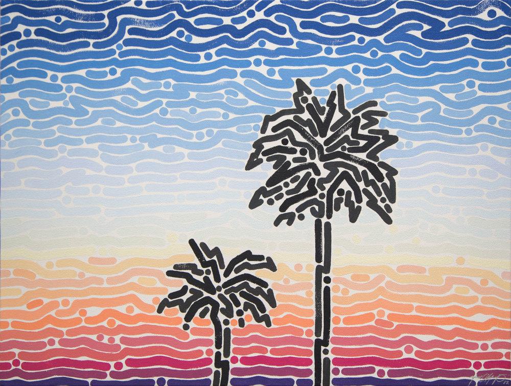 """West sky, 2017   Acrylic on Canvas  18"""" x 24"""""""