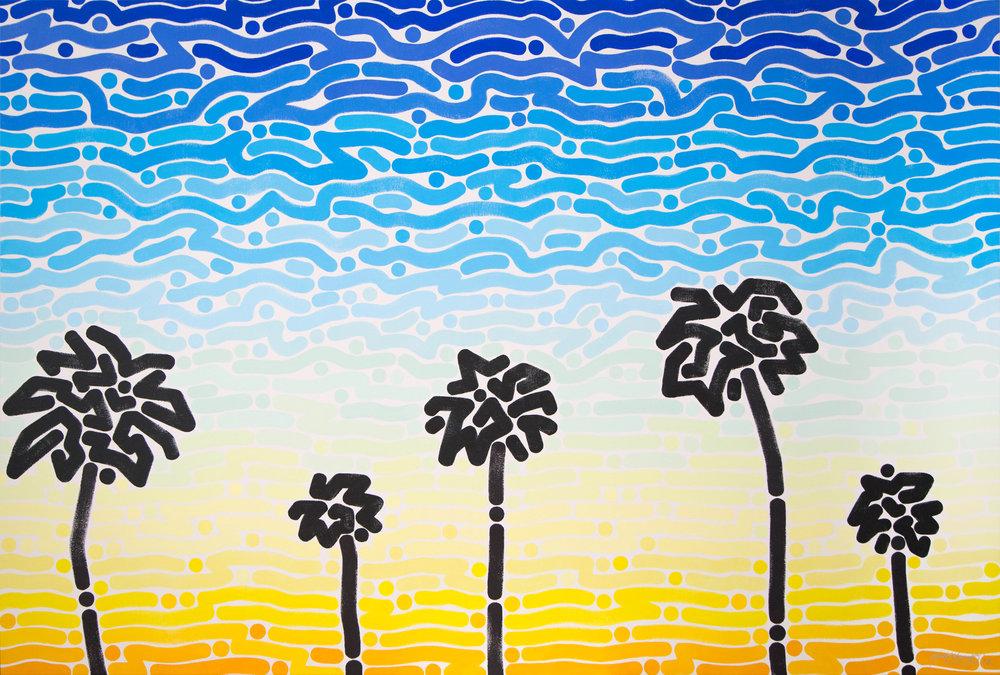 """West Sky 2, 2018   Acrylic on canvas  48 x 72"""""""