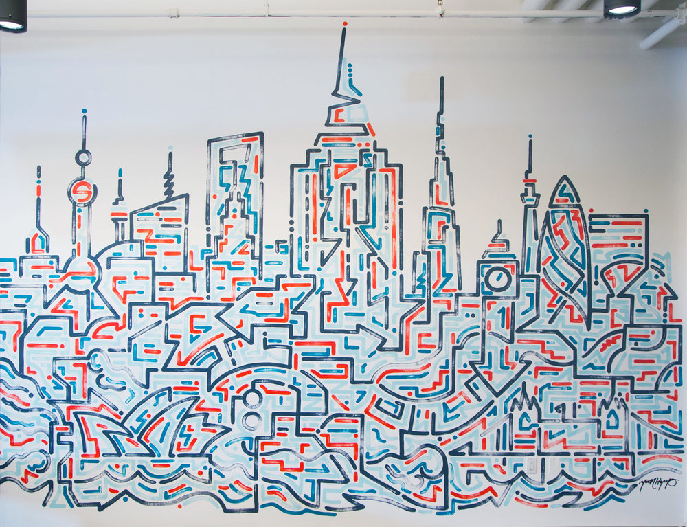 Facebook NY, 2015   Site-specific painting at Facebook NY
