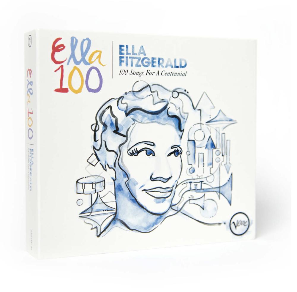 "A cover art of Ella Fitzgerald: ""100 Songs For A Centennial """