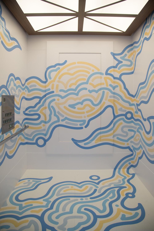 """LUMINE meets ART""   Elevator Art by Yoon Hyup"