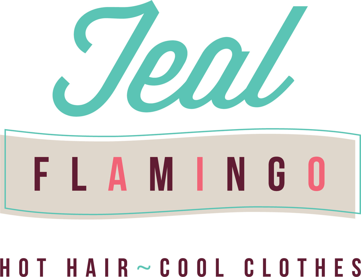 Teal Flamingo