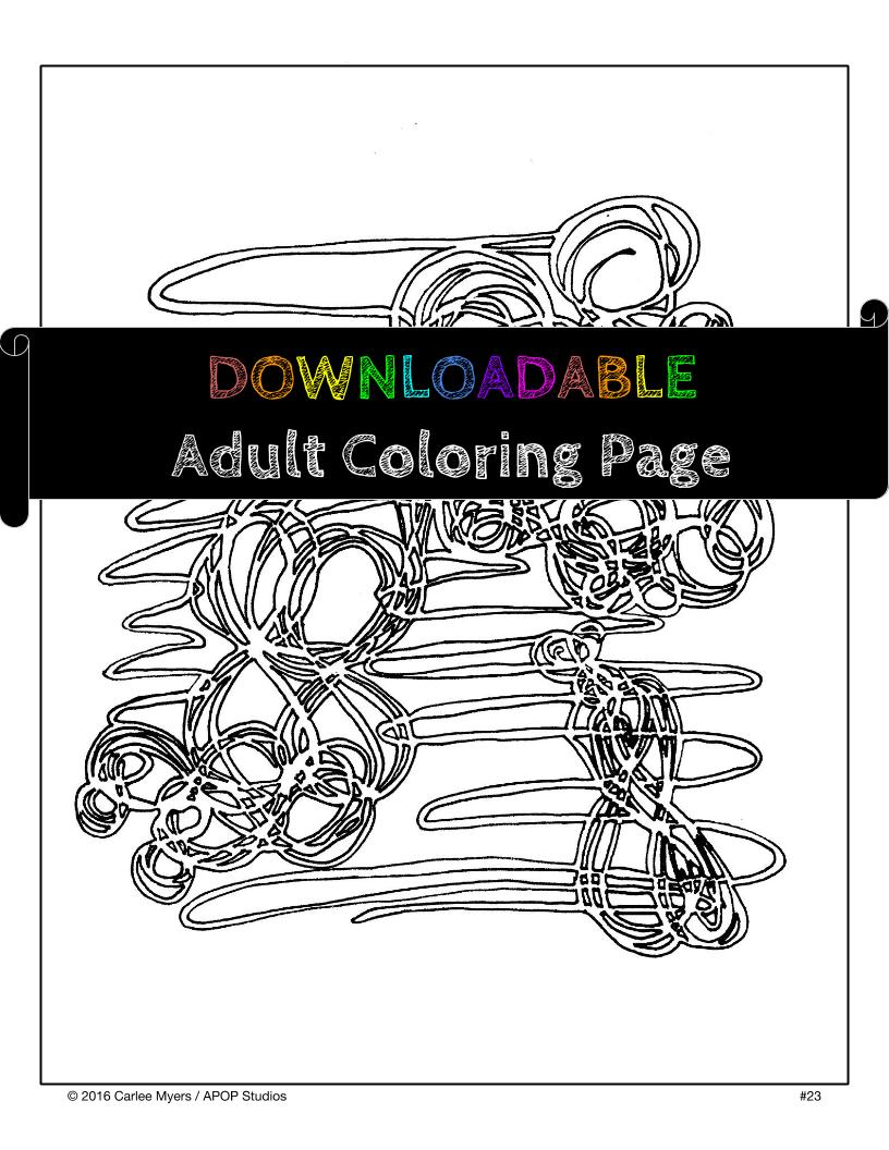 Adult Coloring Page Number 23