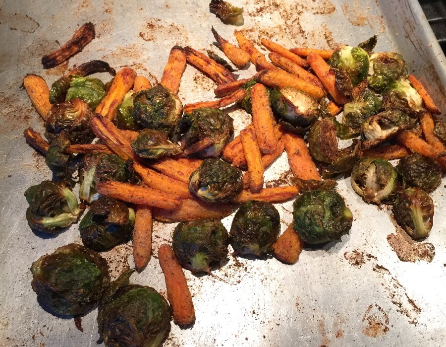 Roasted Carrots & Brussel Sprouts