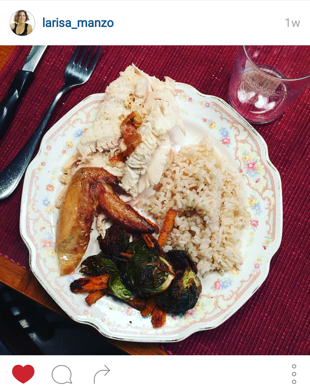 Chicke, Brown Rice & Roasted Vegetables