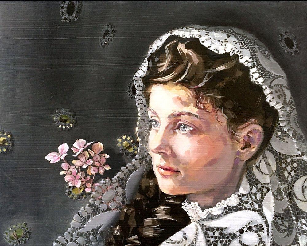 """Lizzie Davant"" c. 1900 | 10x8"" | $650"
