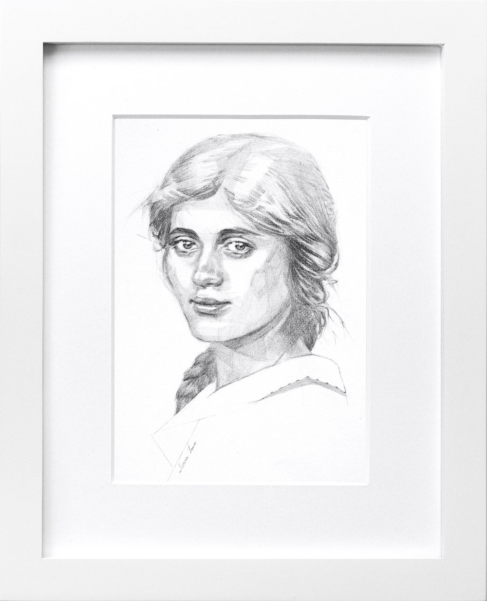"""Albina"" Summer, 1916 Original Graphite Portrait 