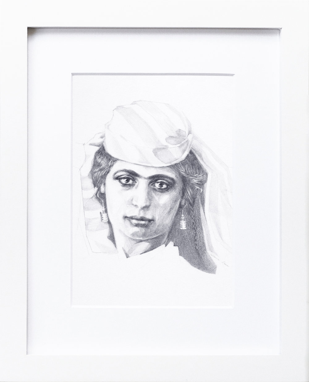 """Nazreen"" 1880s Original Graphite Portrait | $180"