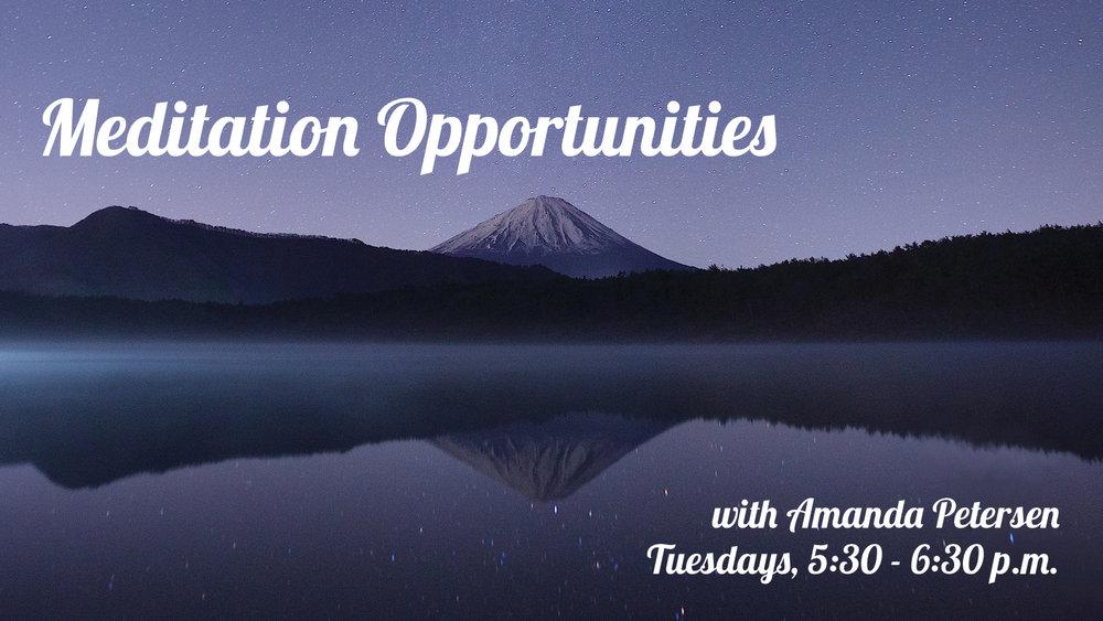 Meditation Opportunities with Amanda Petersen at Pathways of Grace Spiritual Direction in Phoenix, Arizona